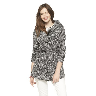 black and white target wrap jacket