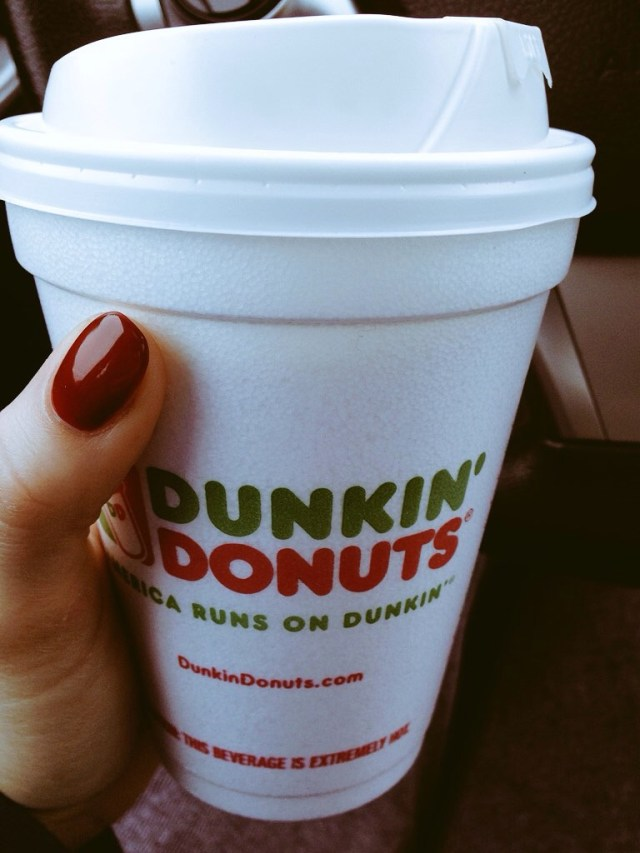 Dunkin' for the road :)
