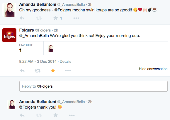 ...they tweeted back. I freaking love Twitter.
