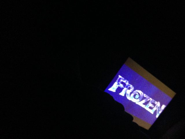 Every night that I stayed at my parents house, my sister & I would watch Frozen right before bed. I don't think we watched more than 7 minutes before we'd fall asleep.