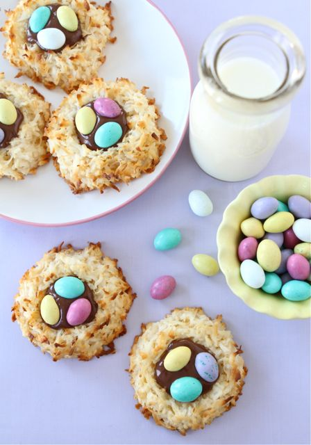 Coconut Macaroon Nutella Cookie Nests - Two Peas and Their Pod