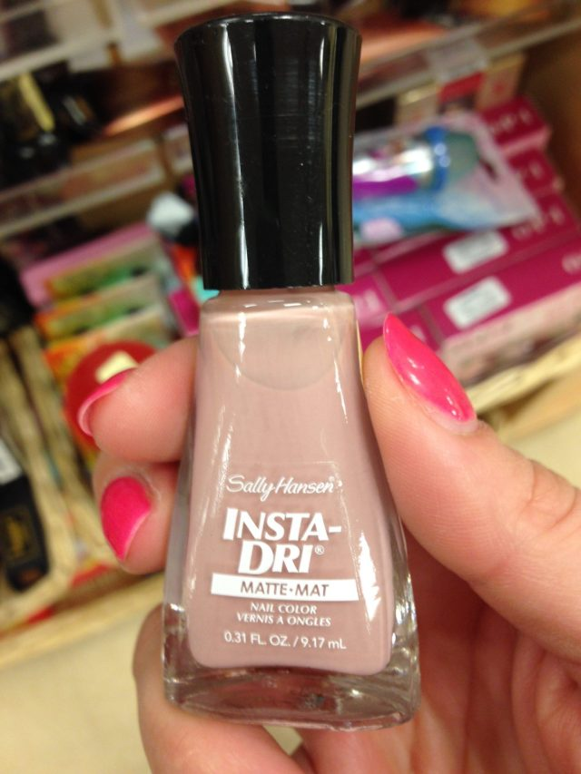 "I ALSO came across this nude polish from Sally Hansen that I'm dying to try. ""Mauve Matter"""