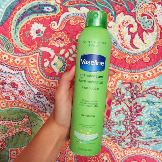 vaseline spray lotion