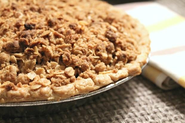 apple crisp pie baked