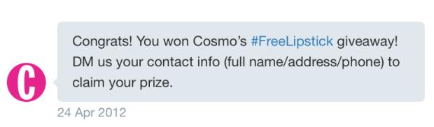 Cosmo bareminerals contest