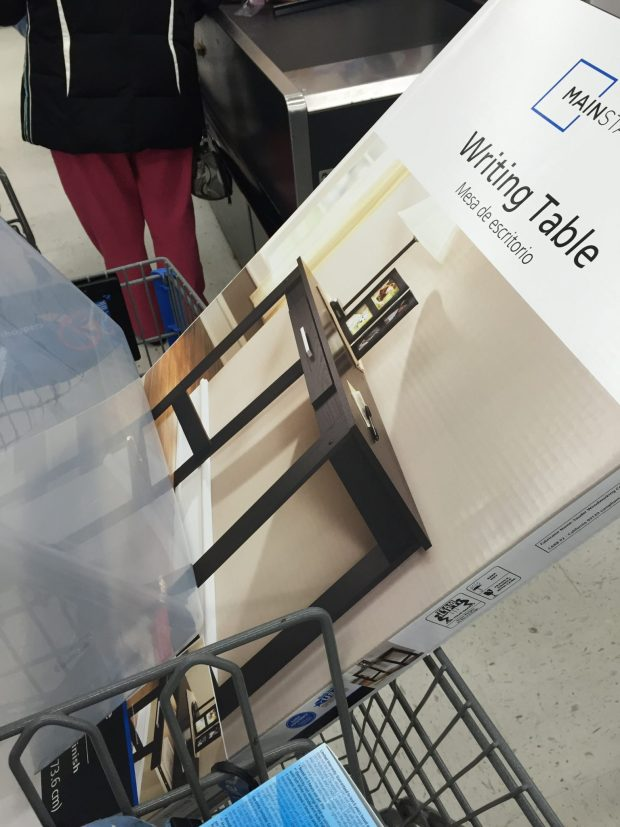 walmart writing table