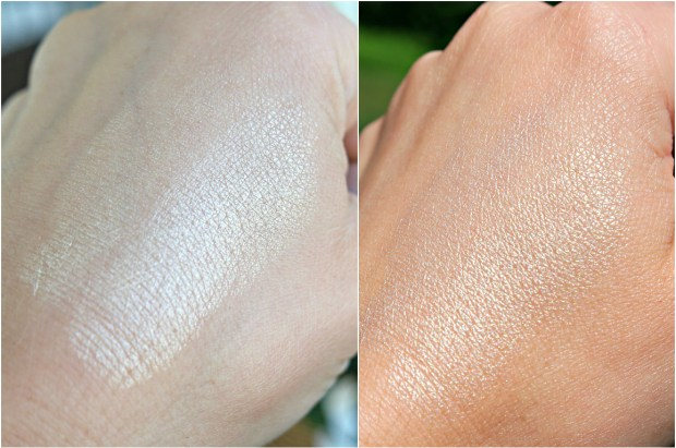 Indoor vs. outdoor swatch!