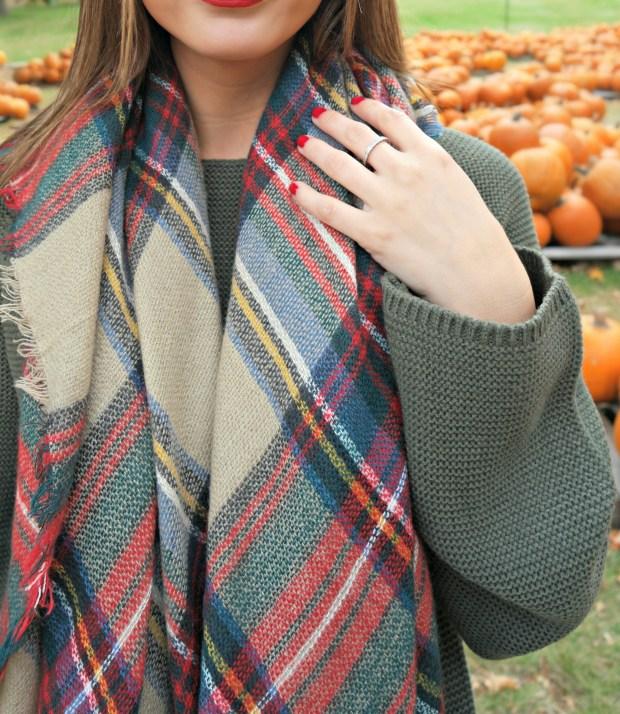 knitpopshop blanket scarf