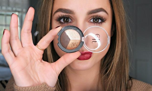 elf cosmetics baked eyeshadow trio tutorial