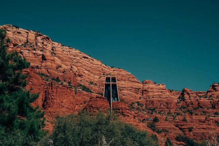 Sedona church in the rock
