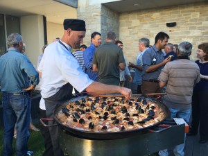 In the courtyard at Primo Estate for the Pizza & Paella night!