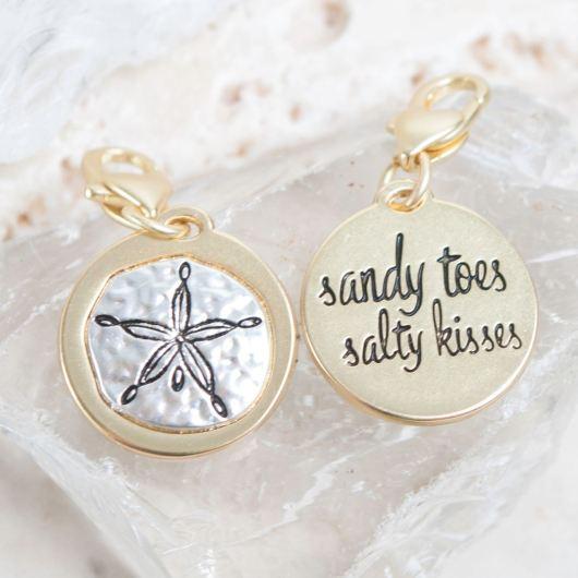"""Gold 2-Tone Medallion - Sand Dollar """"Beach Life"""""""