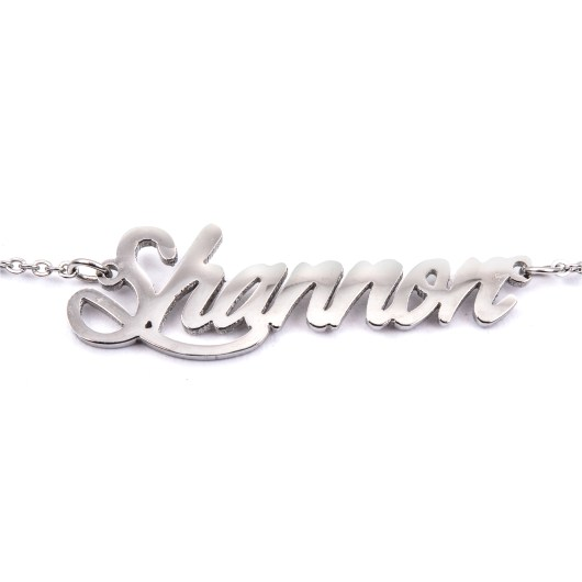 Stainless Steel Name Necklaces - Shannon