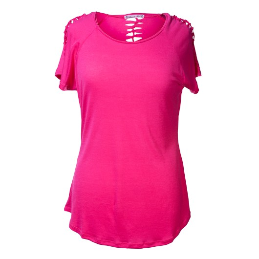 Hand-Tied Tee Size 2XLarge - Pink