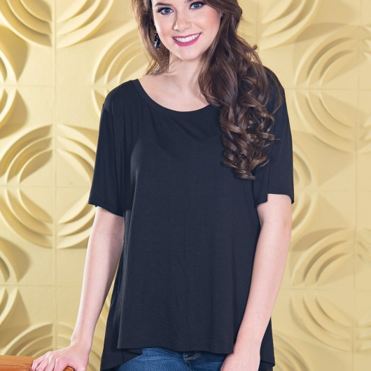 Fit & Flare Top - Black