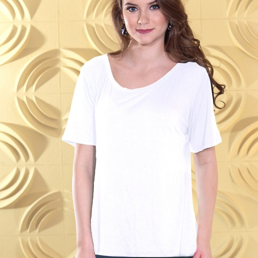 Fit & Flare Top - White