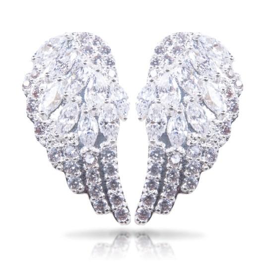 Angel Wings Earrings - Silver