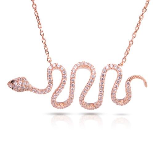 Snake Necklace - Rosegold