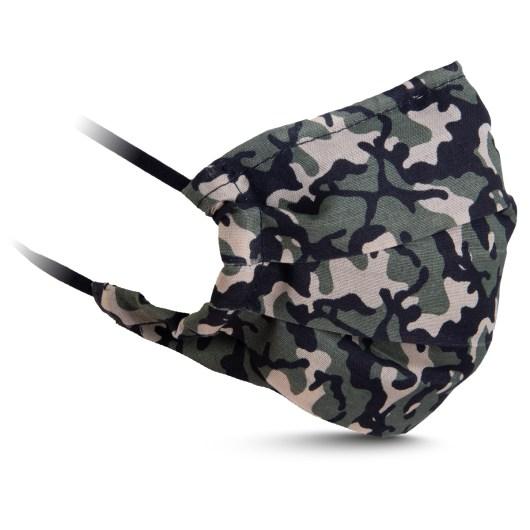 Fabric Mask - Green/Tan Camo