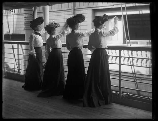 Women on a ship - Eastman Collection