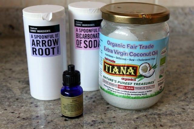 homemade deodorant ingredients