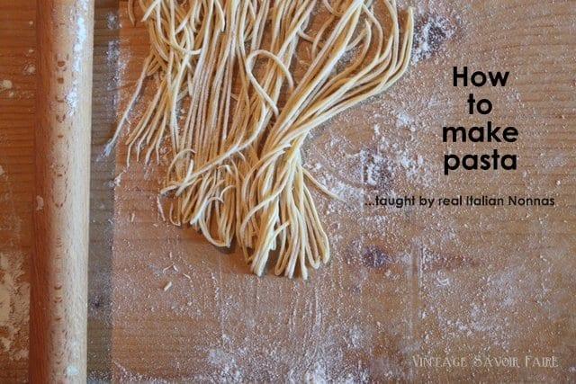 Making pasta all'uovo in Abruzzo