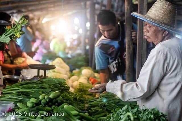 Village market outside Chiang Mai Thailand