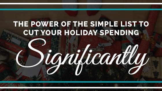 how do I cut my holiday spending