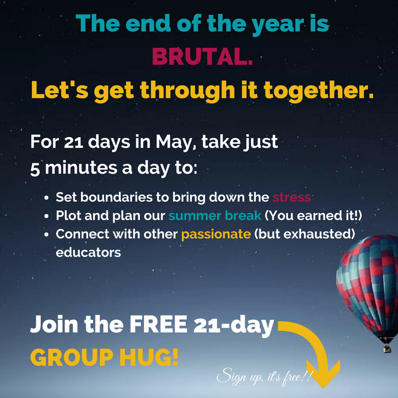 Join us for the free 21-day group hug!