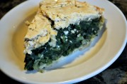 May 2, 2012. Spinach pie. The spinach was good, crust too crumbly. I think I overworked it.