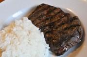 May 27, 2012. Grilled Rib-Eye and Rice.