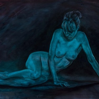 amanda_feher_painting_figurative_charcoal_Delicate_Departure