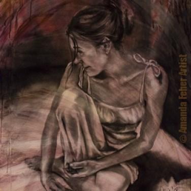 amanda_feher_painting_figurative_charcoal_Yesterdays_Promise