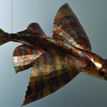 amanda_feher_sculpture_public_art_copper_and_stainless_steel_Flight_School_Flying_Fish_Strand Ephemera_Fish1