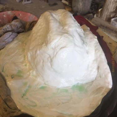Amanda Feher Public Art Bronze Sculpture Light Horsemans hat 01Rubber Mould