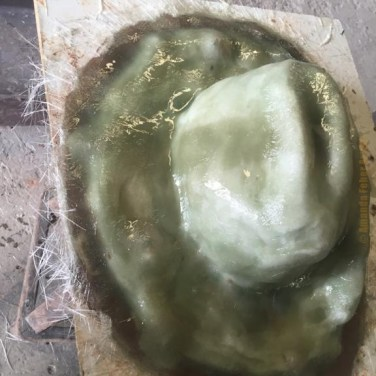 Amanda Feher Public Art Bronze Sculpture Light Horsemans hat 02Fibreglass Shell Mould