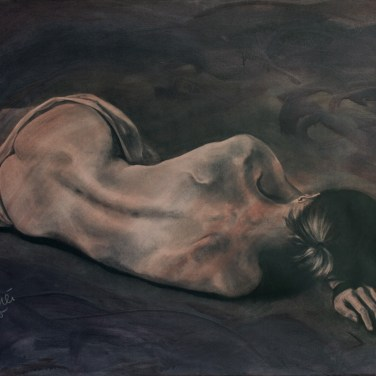 Amanda_Feher_Figurative_Paintings_A_Place_to_Dream_Acrylics_Charcoal_Polyester