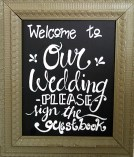 Butler Shoemaker Wedding 08-2014 Welcome Sign