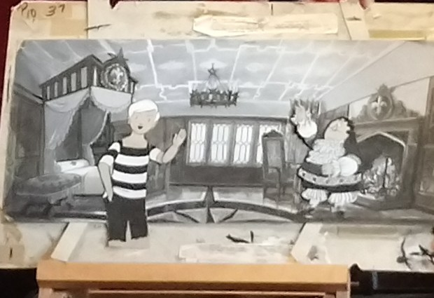 Tom and Captain Pugwash, artwork copyright the Estate of John Ryan, photo used by kind permission of Isabel Ryan