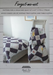 Forget me not quilt pattern from Amanda Jane Textiles
