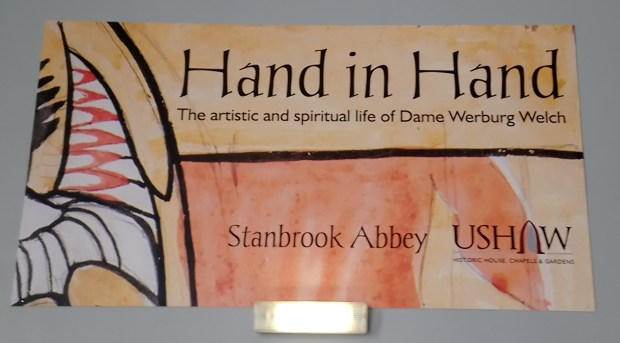 'Hand in Hand' exhibition sign, at Ushaw