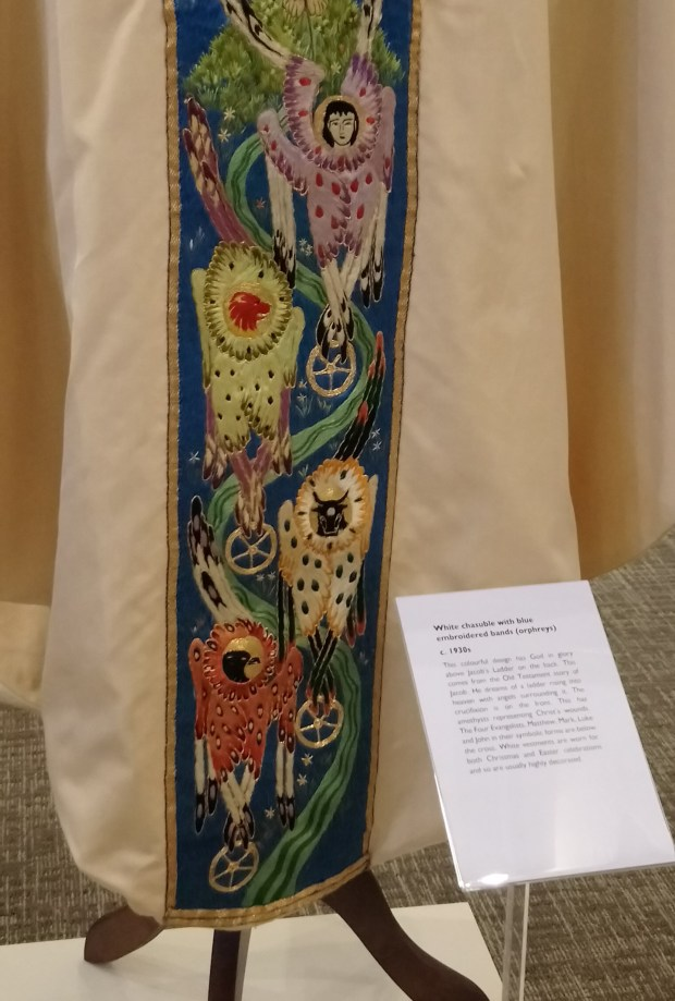 Embroidery by Sister Werburg in the 'Hand in Hand' exhibition at Ushaw