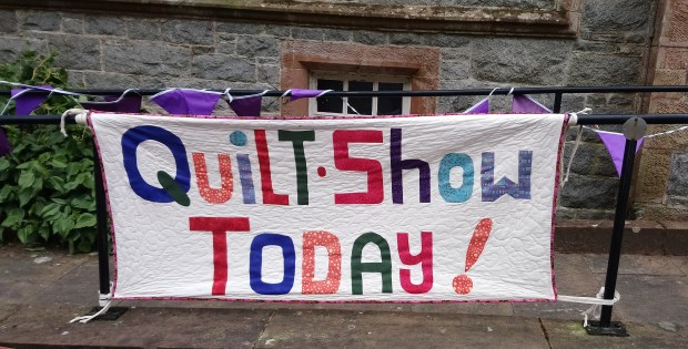 Dumfries and Galloway Quilt Festival sign