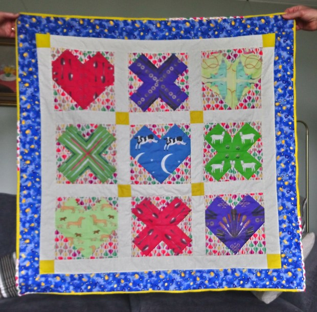 Love and Kisses quilt, designed by Sarah Ashford and made by Alison Moore