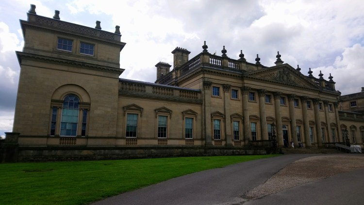 The front facade of Harewood House, Yorkshire