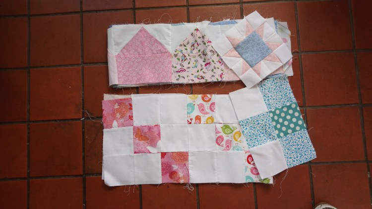 Blocks for 'Sleep Tight' and 'Sweet Dreams' baby quilts by Amanda Jane Textiles