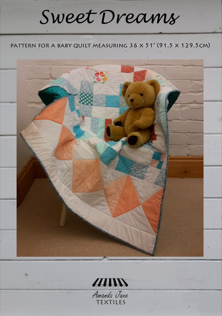 Sweet Dreams baby quilt by Amanda Jane Textiles  cover.jpg