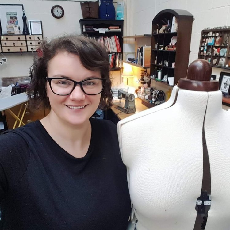 Couture dress designer Aimee Veitch of Corsetry and Couture
