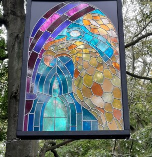 'Eagle' by Stuart Langley, part of 'Outdoor Windows' at Ushaw