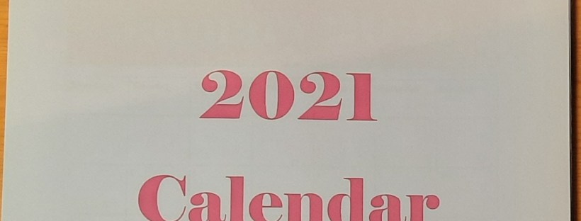 the cover of a free 2021 calendar from Amanda Jane Textiles